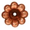 Bead Cap Scalloped 11mm Antique Copper